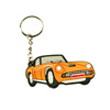 China product promotional silicone rubber car 3D pvc keychains