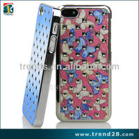 aluminum sticker electroplating PC phone case for iphone 5c
