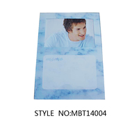 Glass Magnetic Memo Board with photo frame and dry wipe ink pen