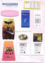 custom cheap designer clothing brand label custom including hang tag/woven/printed/embroidery/seal tag/leather labels(A1-469)