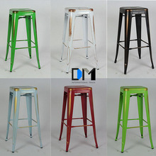 Modern Furniture Cafe Industrial Loft Wooden Top Metal Bar Stool/Industrial chair