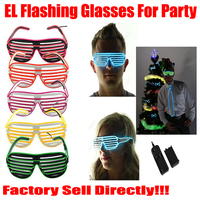 Blink Sunglasses Xmas Supplies Carnival Promotional LED Flashing Sunglasses