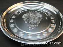 stainless steel round plate/food tray