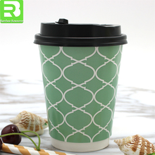 BRICS best seller fancy 8 Oz Double wall paper coffee cup