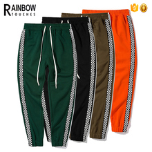 Wholesale Custom Sweat Pants Polyester Side Stripe Track Pants For Mens