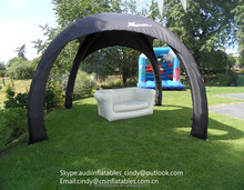 Customized Black Inflatable Three Leg Tent,Inflatable Spider Dome Tent for Events