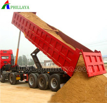 Golden Price Heavy Duty 40 ton 50 ton Side Tipper / Rear Dumper Semi Trailer 3 axles used dump truck trailer beds tires for sale