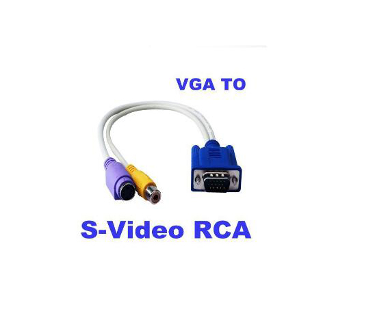 Factory direct sale VGA M to PS2 F +RCA F adaptor cable 0.2m