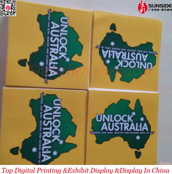 removable car window vinyl sticker for Australia Map advertising