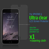 Stock LCD Screen Protector Cover,Film Screen Protector for iphone 6 Screen Protector Cover
