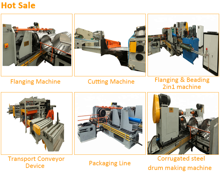 Hot sale metal drum flanging machine , flange bending machine