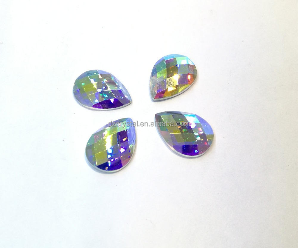 crystal drop flat back loose beads glass sew on pendant for Jewelry decoration