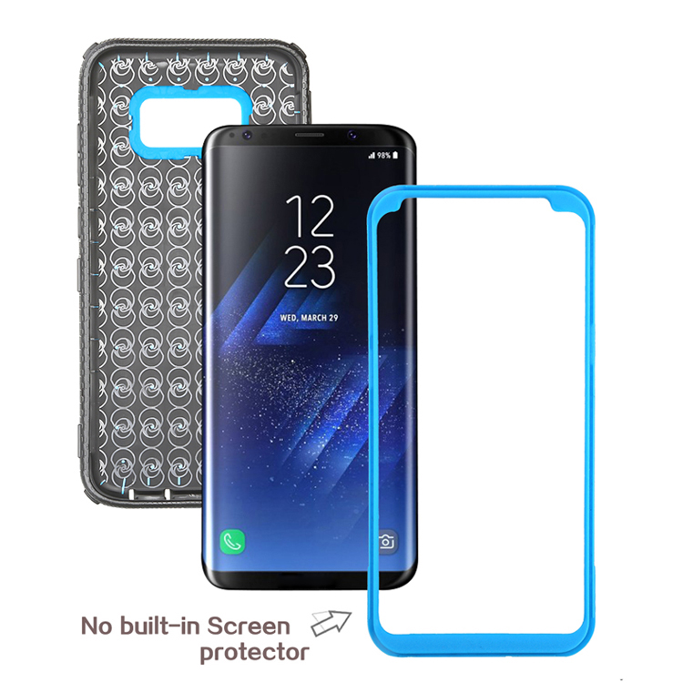 High quality mobile phone case customize belt clip +Mirro sheet +Brushed back for s8 case