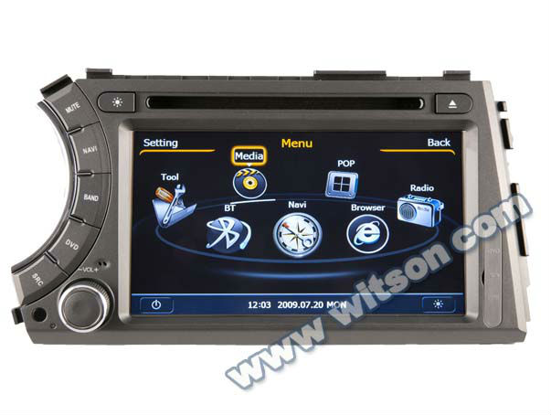 WITSON SSANG YONG KYRON touch screen car stereo with USB port and iPod ready