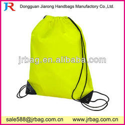 Foldable 210D Polyester Yellow Drawstring Bags