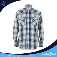 Eco-friendly cotton men casual long sleeve plaid latest shirts designs men