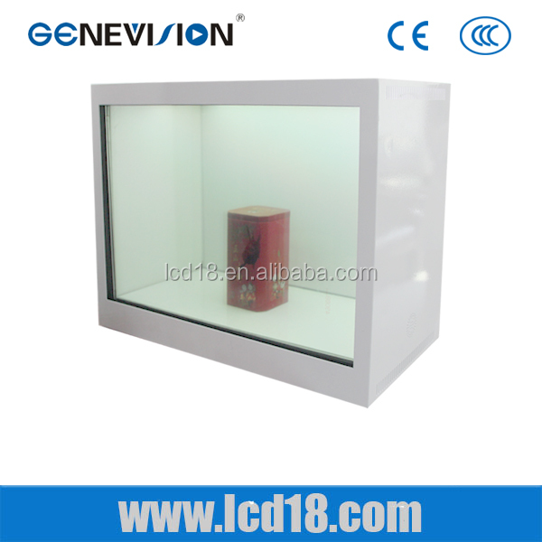 19 inch transparent lcd panel LCD screen showcase transparent led screen