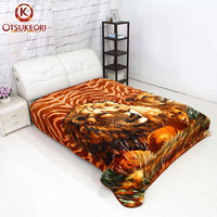 Good quality Plush 8kg double ply animal printed blankets