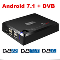 Mecool android 7.1 s905d DDR4 android S2/T2 combo tiger 4k satellite receiver