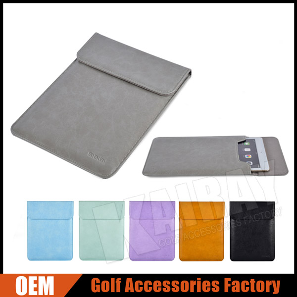 Factory OEM Leather Golf Tablet Sleeve Case Bag