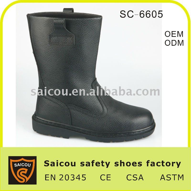 steel toe safety protective shoes boots factory (SC-6605)