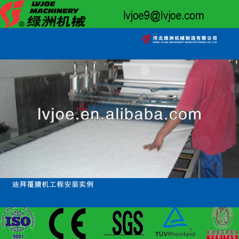 easy operate pvc laminating gypsum board production line equipment/plant /macnine/production line