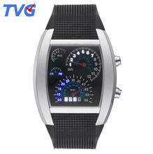 Hot Sale TVG Brand Watch Multicolor Optional Unique Multi-Functional LED Light Emitting Car Meter Dial Silicone Strap Watches
