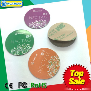 High quality Diameter 30mm Ntag213 anti metal NFC Tag sticker