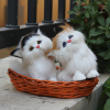 plush stuffed musical animated electronic plush toys, real looking cat animal toy
