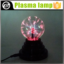 Fantasy Magic USB Plasma Ball 3 Inch Glass Plasma Light with crystal table lamp for decoration