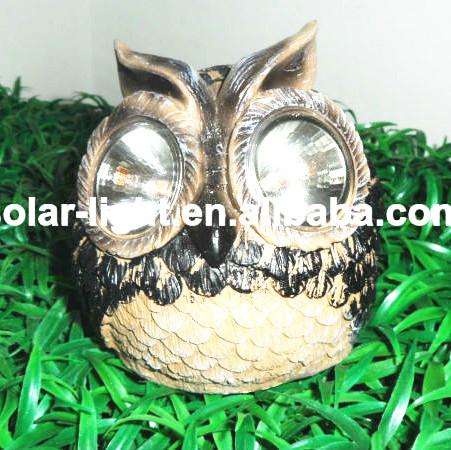 r sine solaire hibou animal en forme solaire lampes de jardin lampes solaires animaux r sine. Black Bedroom Furniture Sets. Home Design Ideas