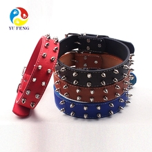 Sharp Spiked PU Leather Studded Dog Collar Durable Large Dogs Gifts dog pet collars