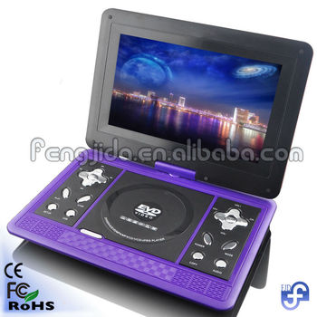 10inch portable dvd player with multiple functions