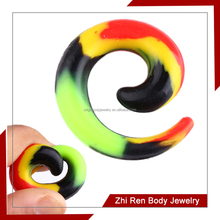 ZhiRen Popular rasta flexible silicone ear expander body jewelry