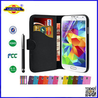 Hot Products For 2014 Book Wallet Flip PU Leather Phone Case Cover For Samsung Galaxy S3 S4 S5 S5 Mini--Laudtec