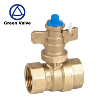 Green-GutenTop Water meter pipe connection Full Brass ball valve with lock