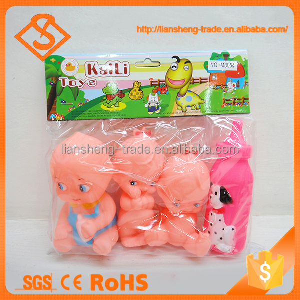 Lovely baby doll non toxic plastic preschool children toys with milk bottle