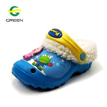 Greenshoe Winter children eva garden shoe new winter product 2018 warm clog