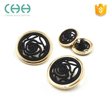 Factory custom flower hollowed fashion jeans press stud buttons