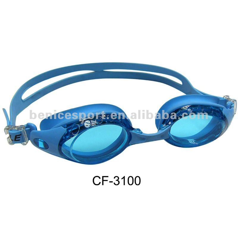silicone waterproof swimming glasses fashionable UV-protection swimming goggles&violet (CF-3100)