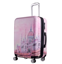 Fashion style 4 wheels printed Carry On Luggage Spinner Suitcase