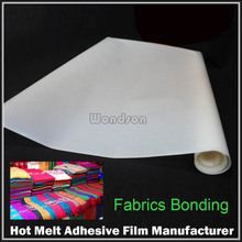 Thickness 0.08mm Wall Cloth Hot Melt Adhesive Tape for Cotton Lamination