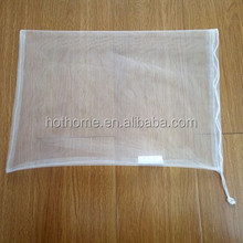 Fruit and Vegetable Reusable Nylon Mesh Market Produce Bags Drawstring Mesh bag for Storage and grocery shopping