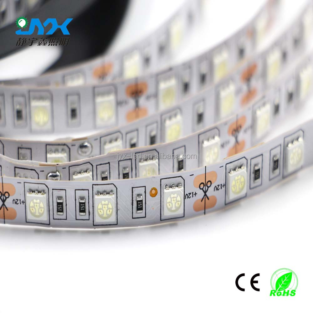 5050 smd 60leds led light strip rgb IP65 12v 24v 14.4w/m remote controlled battery operated led strip light