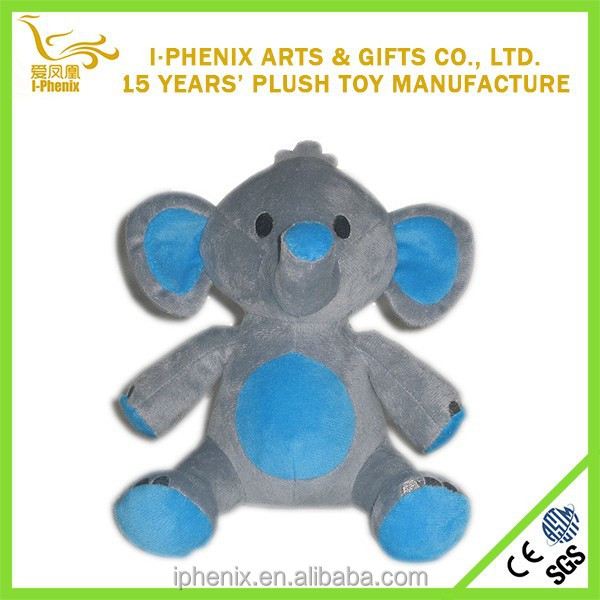 2015 lovely baby toy plush elephant for promotional gifts