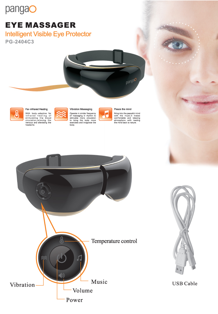 Intelligent Visible Eye Care Massager Machine with far-infrared heating