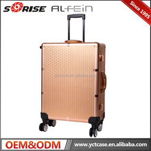 Professional aluminum makeup case cosmetic trolley rolling beauty display case with lights mirror