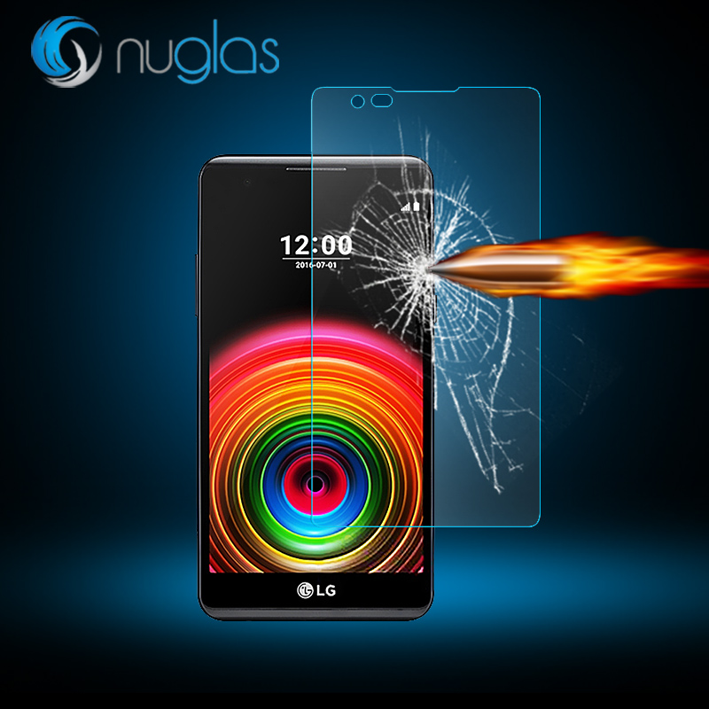 Factory price! NUGLAS Pemium quality Japan Asahi 9H 2.5D 0.3mm mobile phone Tempered Glass screen protector FOR LG X POWER