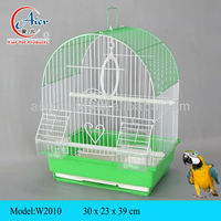 pet store metal chrome bird cage artificial bird cage