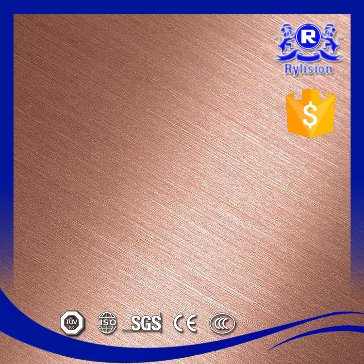 China Factory Supply Best Price 201 Brushed Stainless Steel Sheet With High Nickel